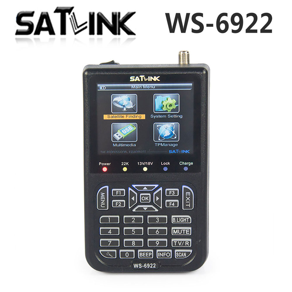 Original Satlink WS-6922 HD Satellite Finder Meter Satlink 6922 HD DVB-S finder ws6922 meter 6922 finder free shipping anewkodi original satlink ws 6906 3 5 dvb s fta digital satellite meter satellite finder ws 6906 satlink ws6906