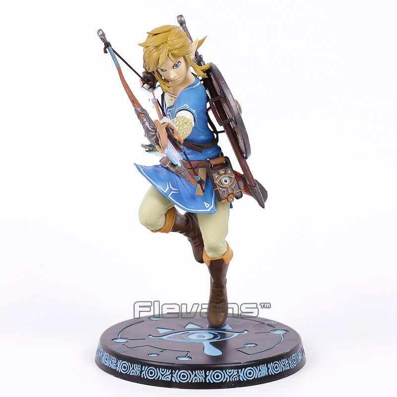 The Legend of Zelda Breath of the Wild Link 10 PVC Painted Statue Figure Collectible Model Toy the legend of zelda breath of the wild link statue pvc painted figure collectible model toy 10inch