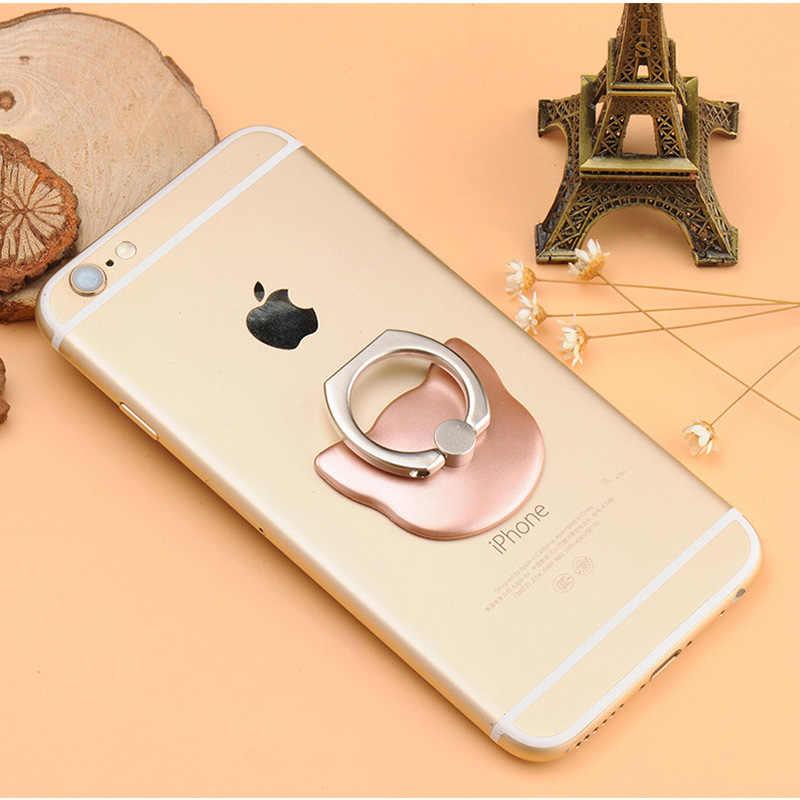 البنصر المحمول الهاتف الذكي حامل ل فون X 8 7 6 6S زائد 5S الذكية الهاتف باد MP3 سيارة جبل حامل لسامسونج