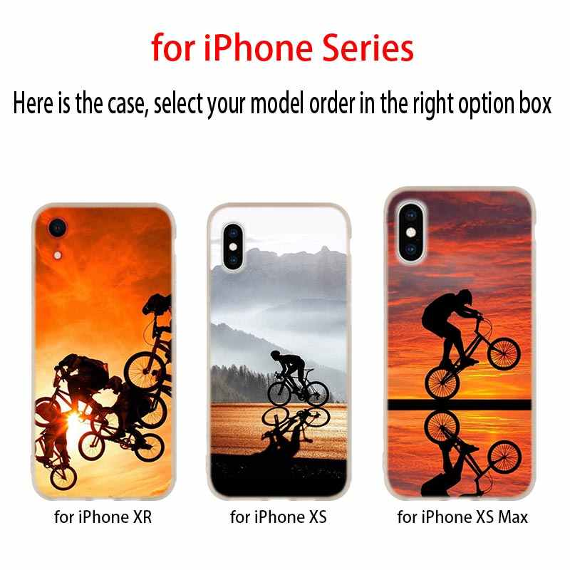 آيفون 11 برو دراجة الدراجات لينة سيليكون غطاء إطار هاتف محمول آيفون 11 برو 7 8 Plus XR XS ماكس 4 5 5s SE 6 6 S eتوي حالات