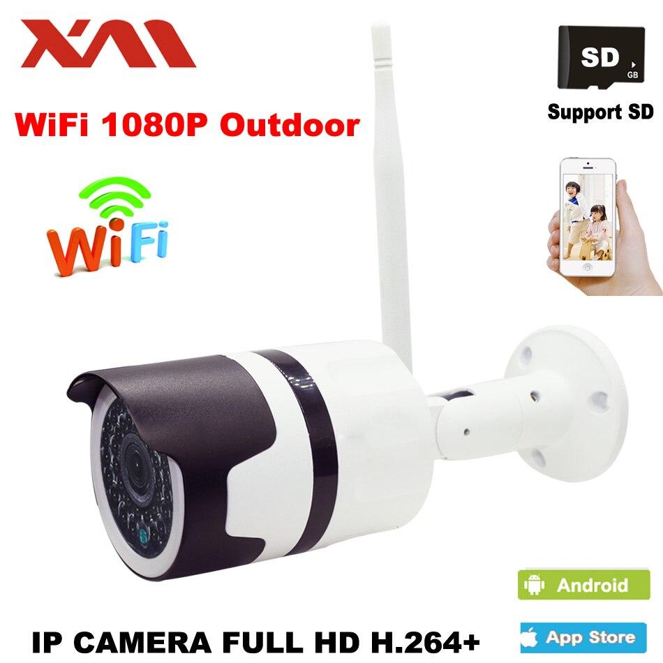 XM 1080 P Bullet Extérieure Étanche Caméra IP Wifi Sans Fil Carte Mémoire de support de Caméra de Surveillance CCTV Caméra Night Vision