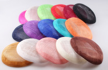 16 colours 15cm High quality sinamay base pillbox with grossgrain sweatband for fascinator hat,kentucky derby races party church