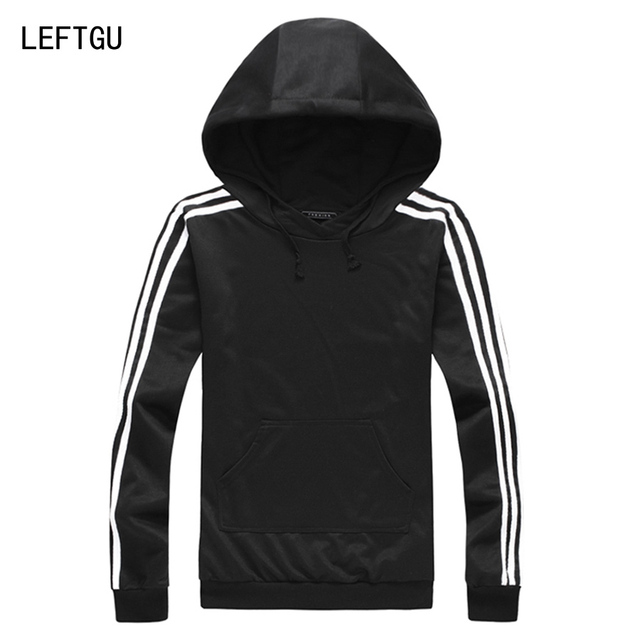 Men's Hoodies Spring Casual men Sweatshirts black blue red green 4 colors Hooded striped clothing