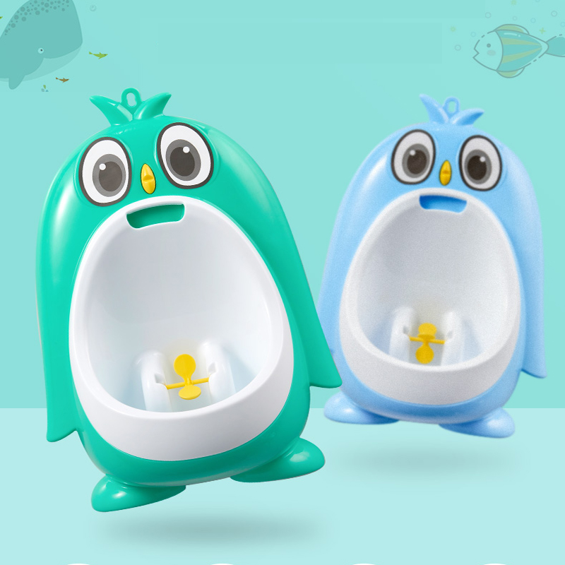 Baby Urinal Babies Boys Potty Toilet Training Frog Penguin Animal Shape Kids Children Stand Vertical Urinal Infant Penico Pee