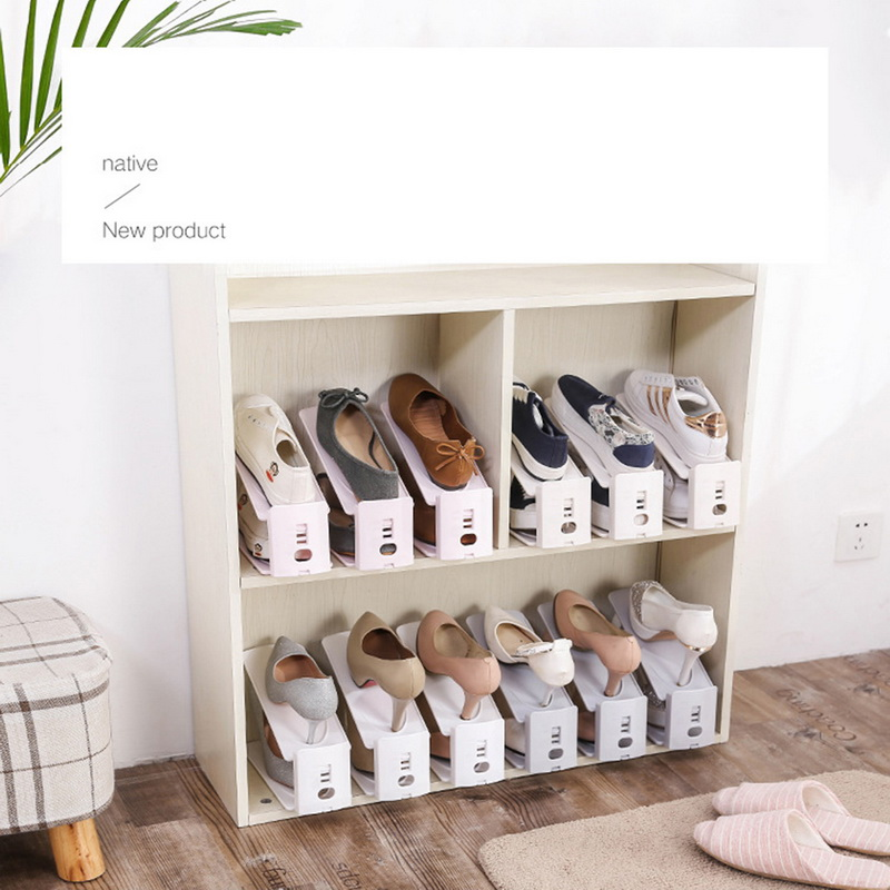 Durable Adjustable Shoe Organizer Footwear Support Slot Space Saving Cabinet Closet Stand Shoes Storage Rack Shoe BoxA-in Shoe Racks & Organizers from Home & Garden