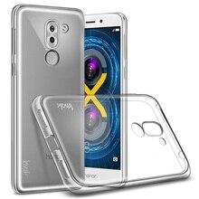 IMAK для Huawei Honor 6x (2016) ТПУ Случаи 0.8 мм Ясно ТПУ Stealth Мобильный Телефон Чехол для Huawei Honor 6×2016 Shell