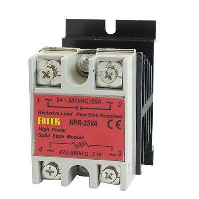 Solid State Relay Voltage Resistance Regulator HPR-25VA 24-380V AC 470/560K Ohm