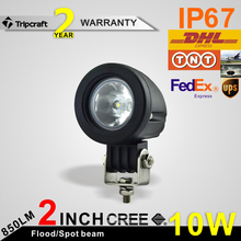 TRIPCRAFT 10w led wrok light shockproof led driving lamp for Mini Fog Lamp Motorcycle Truck Wagon Car Headlight Trailer Bicycle