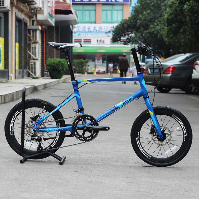 JAVA LIMIITED CL 20″ Minivelo Bike Hydraulic Disc Brake Uniex High Quality Urban 406 City Mini velo Bicycle 18 Speed Blue