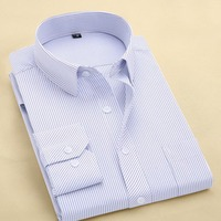 Classic Summer Casual solid men's shirts long sleeve brand dress shirt business twill professional slim fit dress shirt 2017 M33