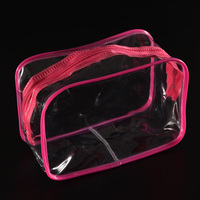Women Travel PVC Cosmetic Bags Transparent Clear Zipper Men Makeup Bags Organizer Beauty Toiletry Bag Bath Wash Make Up Case Cosmetic Bags
