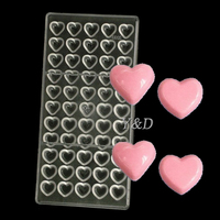 Small Heart Shaped Polycarbonate Chocolate Molds DIY Baking Tray 3D Candy Tools PC Mould