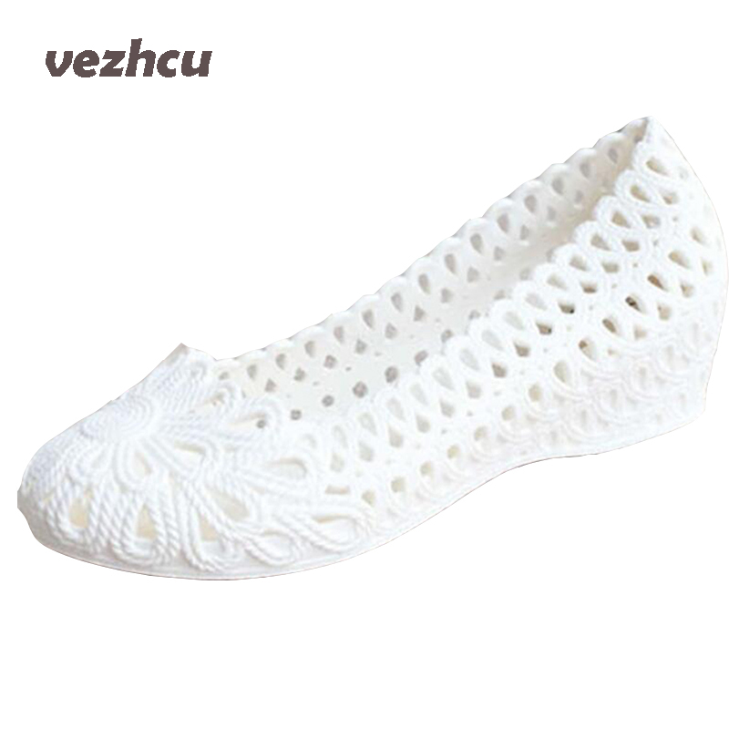 VZEHCU New Jelly Sandals Summer Shoes Soft Woman Wedges Gladiator Sandals Casual Nest Platform Shoes Woman Plus Size 36-40 2e13 choudory bohemia women genuine leather summer sandals casual platform wedge shoes woman fringed gladiator sandal creepers wedges