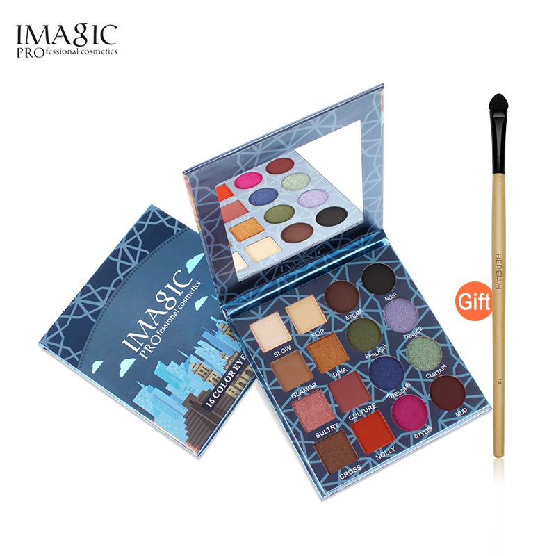 IMAGIC New Arrival Shimmer Eyeshadow Palete 16 Colors Glitte Eye Shadow Long-lasting Easy To Wear Makeup
