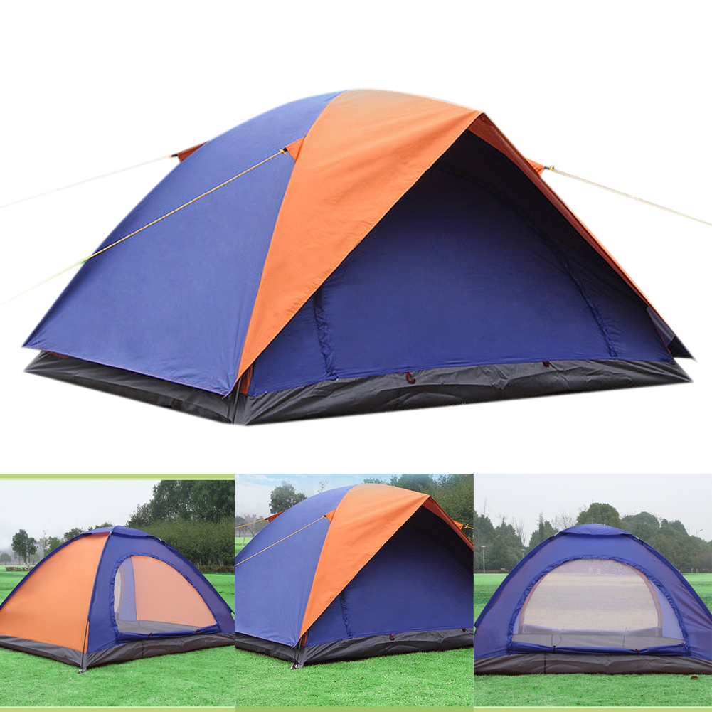 Prix pour Camping Tente 2-personne Oxford Étanche 200 (L) X 150 (W) X 100 (H) cm Double Couche Famille Pinic Camping Pop up Randonnée Tente De Plage