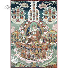 Michelangelo Wooden Jigsaw Puzzle Padmasambhava Refuge Field Nyingm Lineage Tibetan Buddhist Thangka Painting Collectibles Decor