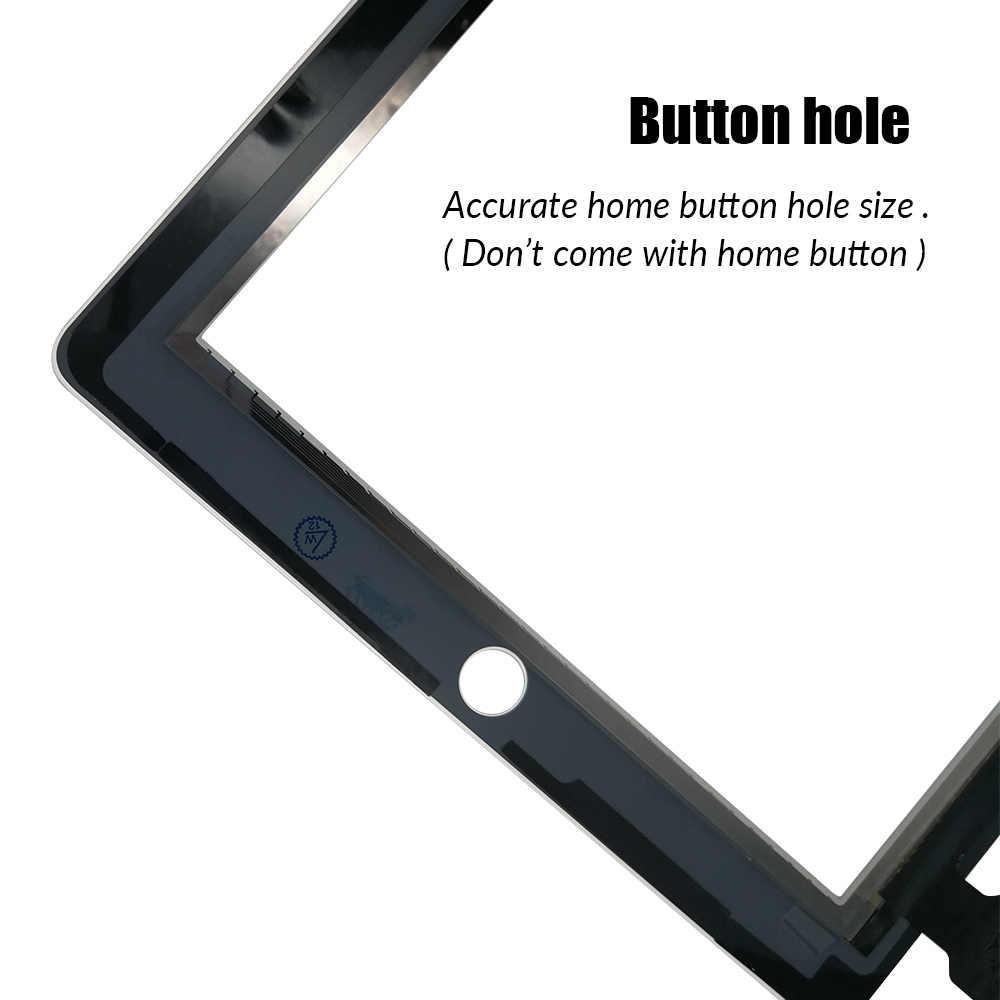 Новый Сенсорный экран для Ipad 3 4 iPad3 iPad4 A1416 A1430 A1403 A1458 A1459 A1460 стеклянная Сенсорная панель дигитайзера нет Главная Кнопка
