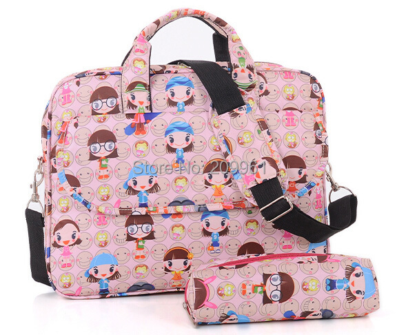 12 14 15 inch multicolor fashion pro laptop PC notebook case briefcase messenger bag Free shipping
