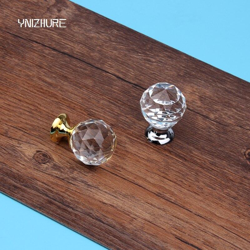 2018 Moderne Minimalistische Stijl Garderobe Ladekast Wijnkast Hand 25mm 10 Stks Crystal Ball Schudden Handshandle Slingerknop Modern Ontwerp
