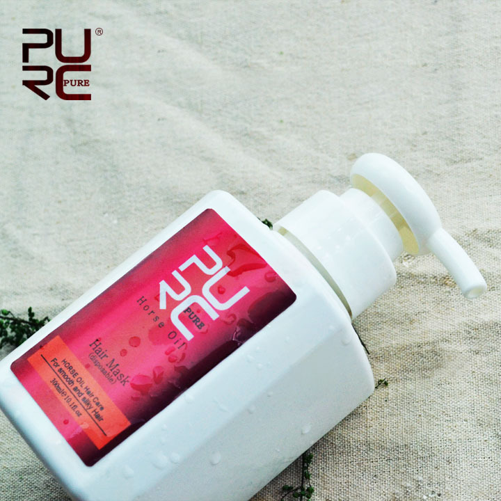 PURC horse oil hair mask be good for hair care 300ml repair damaged hair to make smooth and moisturized and disposable
