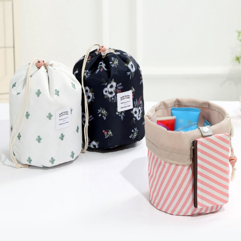 New 2019 Women Round Waterproof Makeup Bag Travel Cosmetic bags Organizer Toiletry Dressing Make Up Box Neceser Multi-functionNew 2019 Women Round Waterproof Makeup Bag Travel Cosmetic bags Organizer Toiletry Dressing Make Up Box Neceser Multi-function