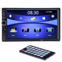 2 DIN Car Radio Player 7 HD Touch Screen Bluetooth Rear View Camera Stereo FM MP3