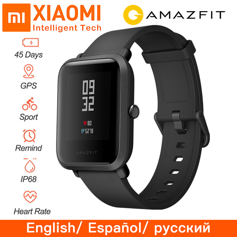 Original Huami Global Amazfit Bip Beep Smart Watch Heart Rate GPS IP68 Waterproof Support Strava Connect