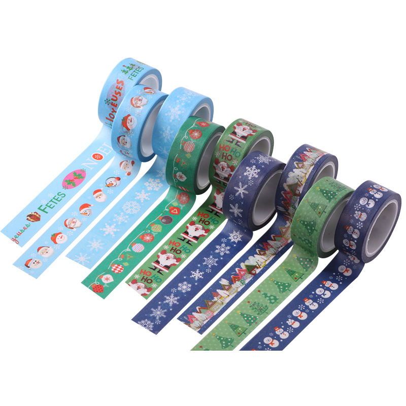 Washi Tape Shop 9-12Pcs/Lot Sale Beautiful Things Adhesive Tape Cute Christmas Stickers The Best Gifts for Kids DIY Crafts 4pcs lot loz christmas gifts doraemon