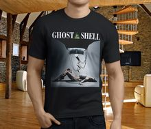 Novelty T Shirts O-Neck Popular Ghost In The Shell Anime Black MenS Short Sleeve Office Tee For Men