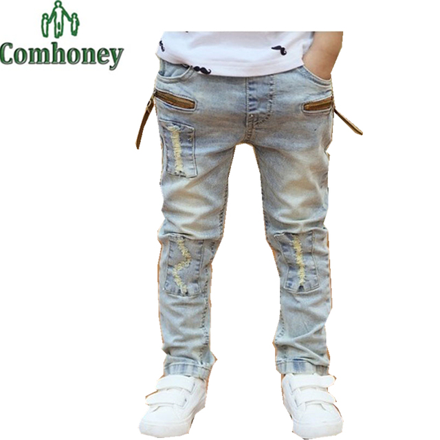 Boys Jeans Baby Trousers Kids Pants Clothing Children Ripped Jeans Casual  Elastic Waist Fashion Jeans 3 - Aliexpress.com : Buy Boys Jeans Baby Trousers Kids Pants Clothing