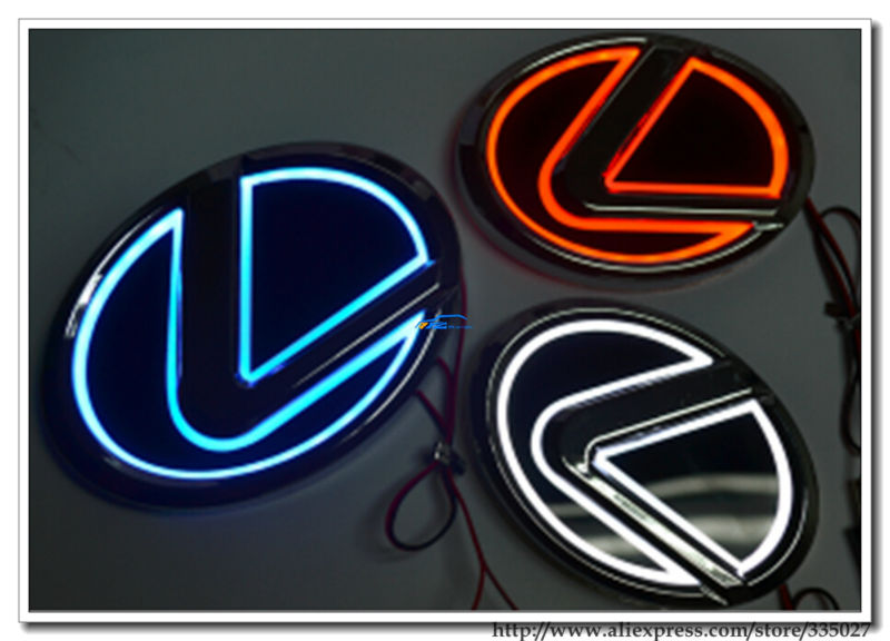 5d Car Rear Front Badge Brand Logo Emblem Trunk Light For