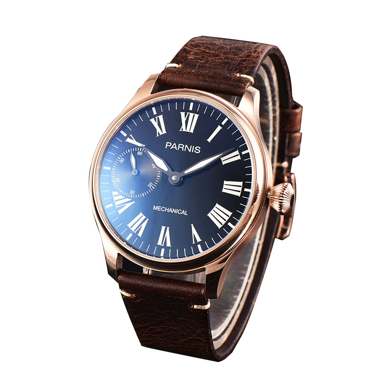 Parnis Mens Business Seperate Second Dial Classic Dress Mechanical Hand Wind Wrist WatchesParnis Mens Business Seperate Second Dial Classic Dress Mechanical Hand Wind Wrist Watches