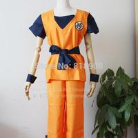 Japanese Anime Dragon Ball Z cosplay costume Turtle Letter GUI Cosplay Costume clothing Top+Pants+Belt+Wrist Band