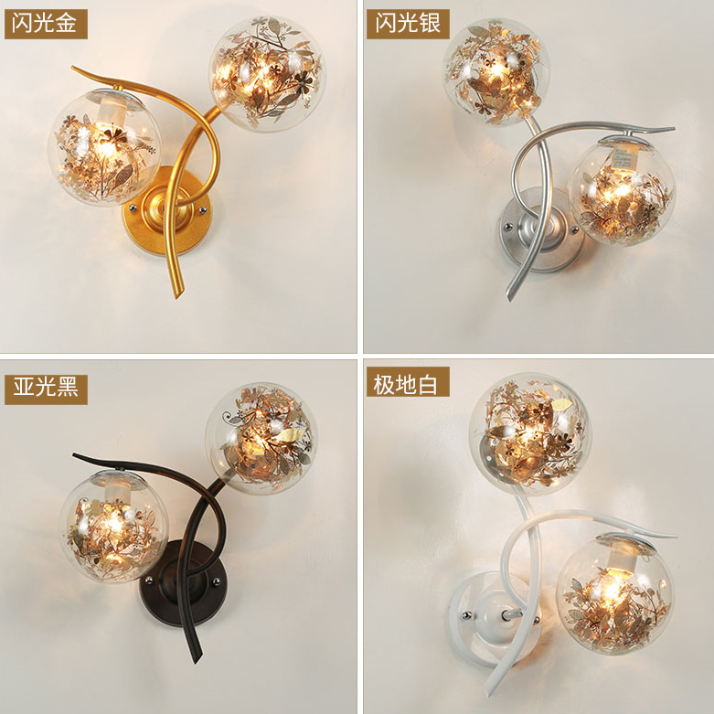 wall lamp led decorative light bedroom wall lamp Nordic corridor corridor lamps and lanterns of the head of a bed-in Wall Lamps from Lights & Lighting on JM-Sparkdrop Store