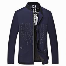 10XL 9XL 8XL 6XL 5XL Men Jackets Long Sleeves Standing Collar Windproof Chaquetas Zipper Solid Casual Outerwears Hombre Clothing