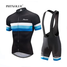 Phtxolue 2019 Cycling Sets Clothing Men Breathable Anti-UV Bicycle Wear Bike Clothing/Short Sleeve Jerseys set
