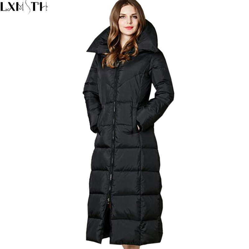 Extra long down coat jacketin for Women s button down shirts extra long