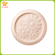 2016 The new Chrysanthemum soap mold  round sunflowers diy handmade art clay silicone 70g
