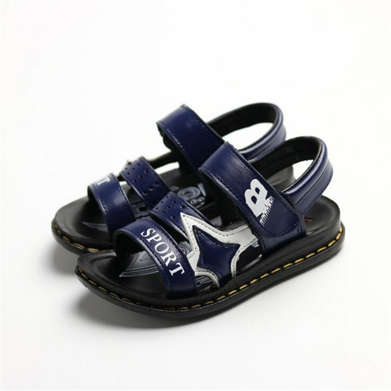 Children sandals 2017 spring summer new Korean fashion big boys student beach shoes 26-37 baby non-slip soft sandals