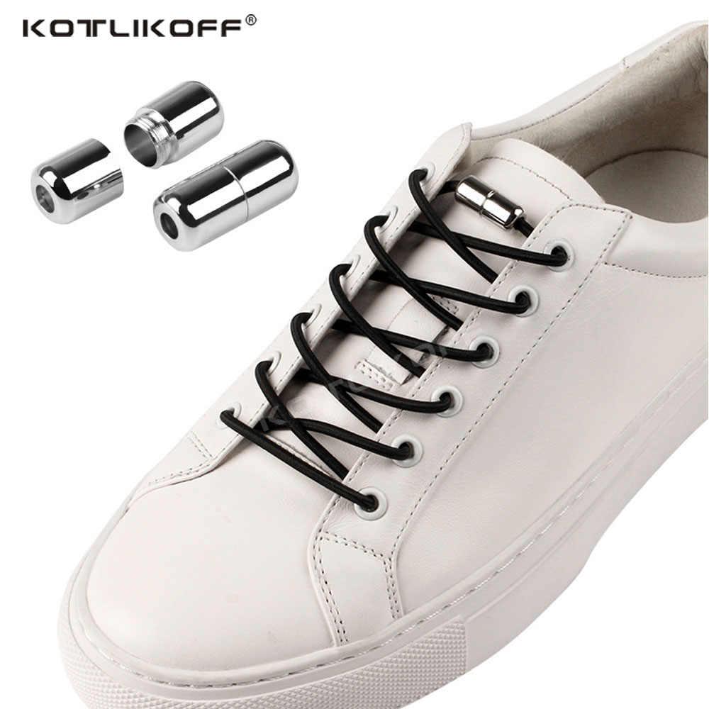 Lazy Shoe Laces No Tie Elastic Shoelaces Metal Buckle Kids Men Women Sneakers