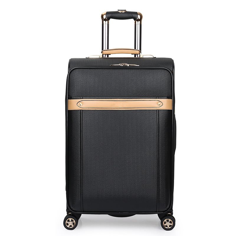 High quanlity PU suitcase luggage women mens travel trolley box suitcases rolling Business computer bag Silent universal wheel