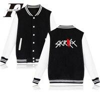 LUCKYFRIDAYF 2017 DJ Skrillex En Jack U Logo Mannen/Vrouwen Rock En Roll Punk Baseball Jasje Warme Winterjas Streetwear