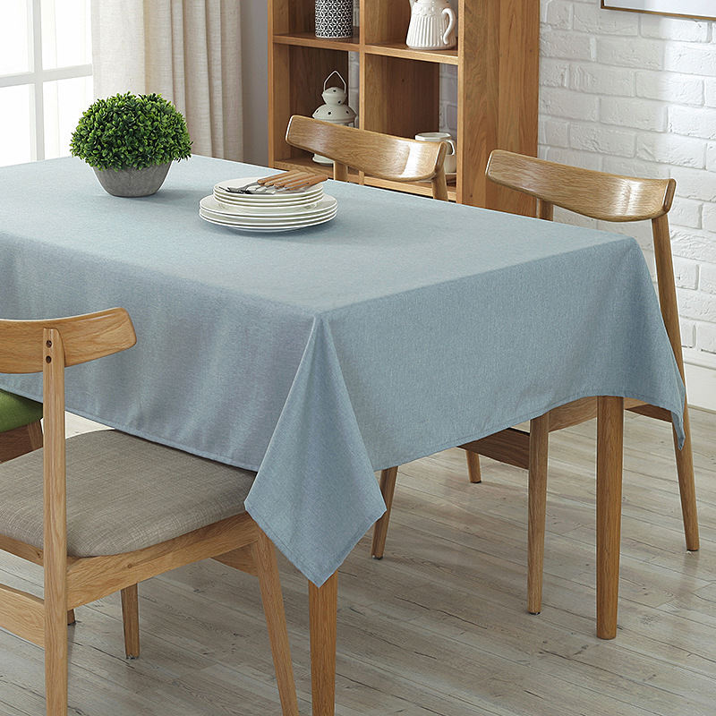 Cool Us 3 64 30 Off New Rectangular Tablecloths Modern Literary Solid Color Cotton And Linen Dining Table Cloth Tea Table Fabric Home Textile Decor In Download Free Architecture Designs Scobabritishbridgeorg