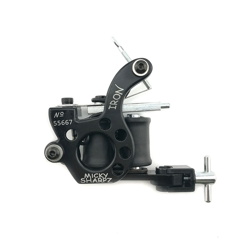 Hot Sales Wire Cutting 10 Wrap Coils Tattoo Machine For Liner And Shader Black Color Iron Tattoo Supplies #NM038 цена