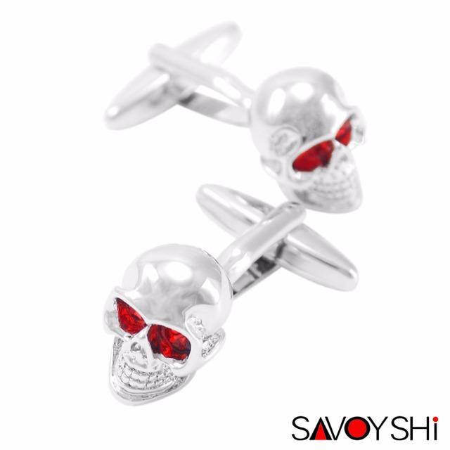 Ghost Skeleton Skull Head Cufflinks for Men
