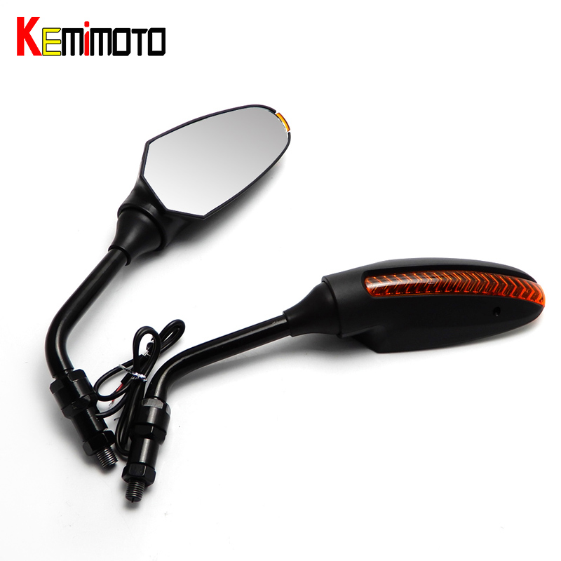 KEMiMOTO For Benelli LED Rearview Mirror for Benelli BN600 BN 600GT TNT R160 Tre-k 1130 motorcycle parts mirrors after market cnc adjustable long folding brake clutch lever for benelli tre k tnt sport evo cafe racer 1130 black