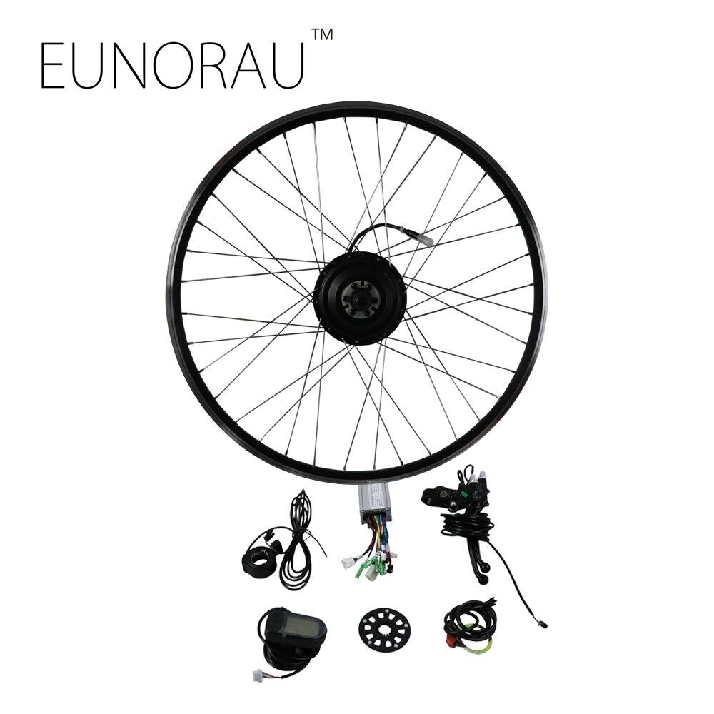 EUNORAU 36V250W front Electric Bike Conversion Kit Brushless Hub Motors 20''24''26''27.5''28'' eunorau 48v750w bafang fat tire 20 26 rear hub motor electric fat bike motor conversion kit free shipping