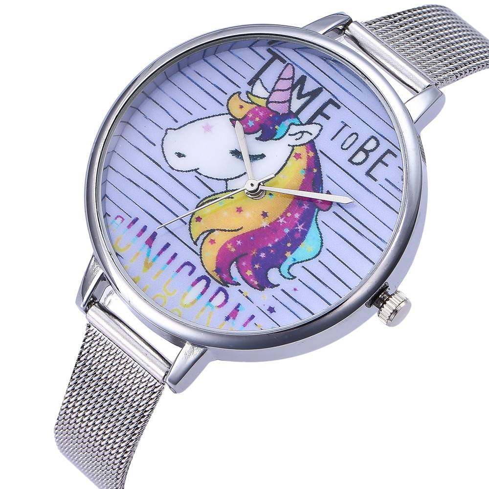 Women Horse Fashion Quartz Wrist Watch Stainless Steel Band Strap Ladies Casual Dress Watches Female Clock relogio feminino rigardu fashion female wrist watch lovers gift silicone band creative wristwatch women ladies quartz watch relogio feminino 25