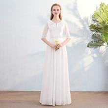 Beauty-Emily Lace Evening Dresses 2019 Long Vestidos Para Festa Sleeveless Floor-Length up Wedding Party Girl Prom Dress