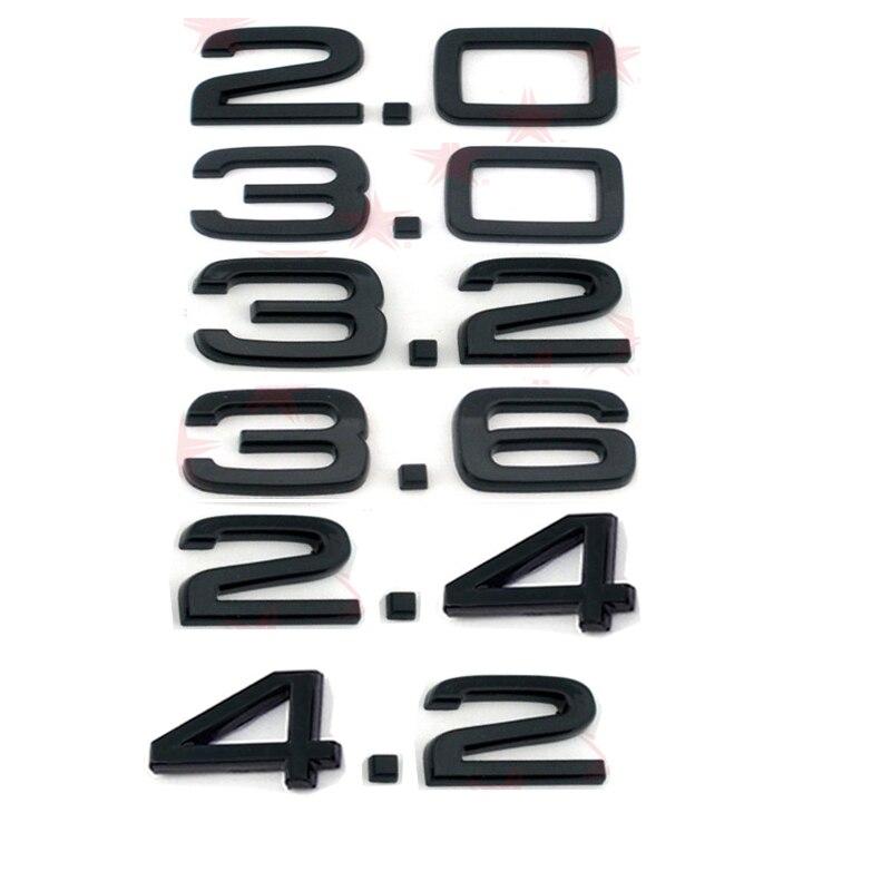 Глянцевый черный АБС-пластик 2,0 2,4 3,0 3,2 3,6 4,2, фотонаклейка для Audi SLINE A1 A3 A4 A5 A6 A7 Q3 Q5 Q7 TT RS
